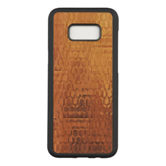 Golden Samsung Galaxy S8+ Slim Cherry Wood Case
