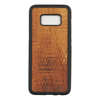 Golden Samsung Galaxy S8 Slim Cherry Wood Case