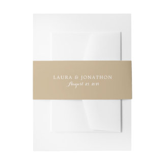 Golden Sand Color | Wedding Invitation Belly Band