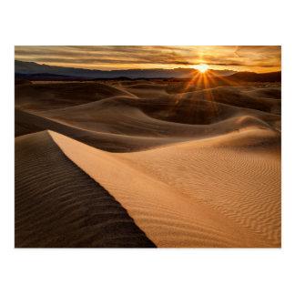 Golden Sand dunes, Death Valley, CA Postcard