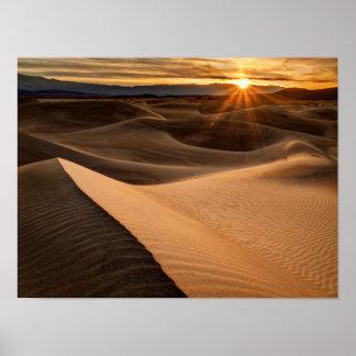 Golden Sand dunes, Death Valley, CA Poster