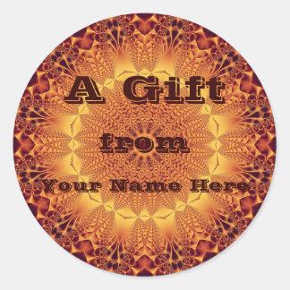 Golden Satin Gift  Sticker