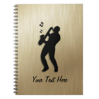 Golden Saxophone Player Personal Notebook