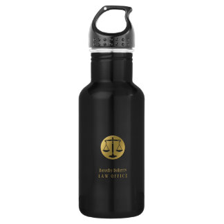 Golden Scales of Justice | Professional Lawyer 532 Ml Water Bottle