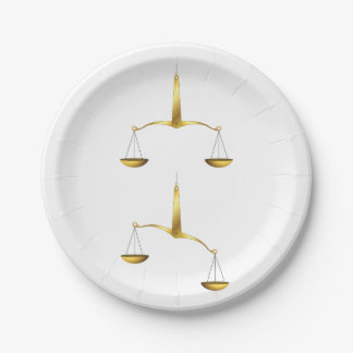 Golden Scales Paper Plates 7 Inch Paper Plate