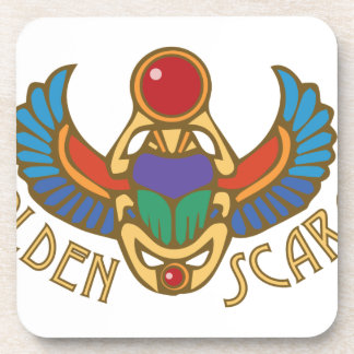 Golden Scarab Drink Coaster