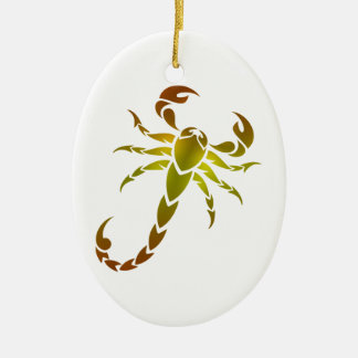 Golden Scorpion Ceramic Ornament