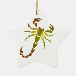 Golden Scorpion Ceramic Star Decoration