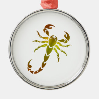 Golden Scorpion Metal Ornament