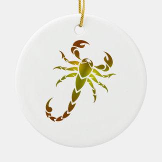 Golden Scorpion Round Ceramic Decoration