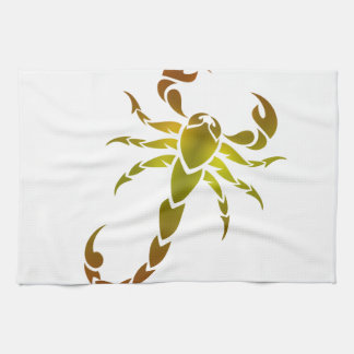 Golden Scorpion Tea Towel