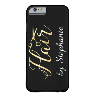 Golden Script Scissors Hairstylist Hair Salon Barely There iPhone 6 Case