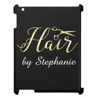 Golden Script Scissors Hairstylist Hair Salon Cover For The iPad