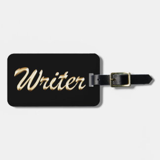 Golden Script Writer Luggage Tag