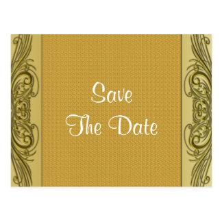 Golden Scrolls 50th Wedding Anniversary Postcard