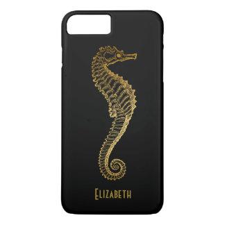 Golden Seahorse Phone Case