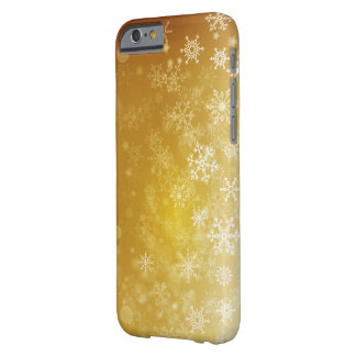 Golden Seasonal Holiday / Christmas Snowflake Barely There iPhone 6 Case