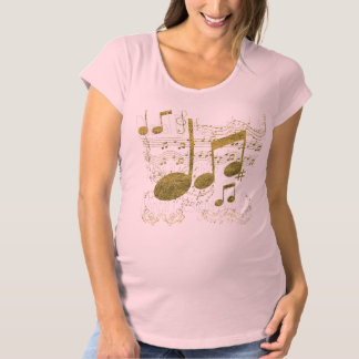 Golden Sheet Music Maternity T-Shirt
