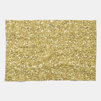 Golden Shimmer Glitter Kitchen Towels