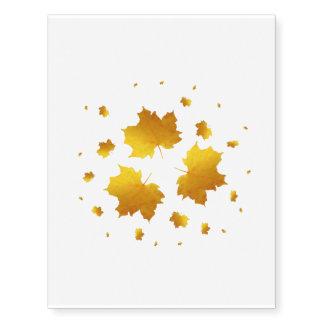 Golden Shimmer Maple Leaf