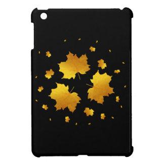 Golden Shimmer Maple Leaf iPad Mini Case