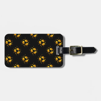 Golden Shimmer Maple Leaf Tags For Luggage