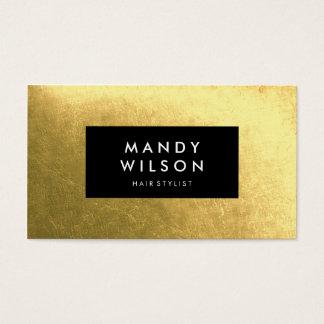 Golden Shine Black Stylish Business Cards