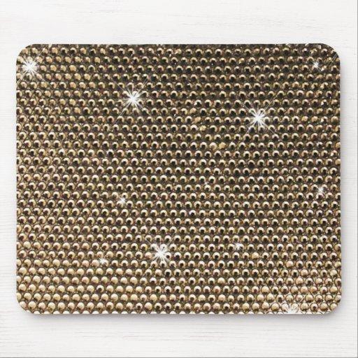Golden shining texture mousepads