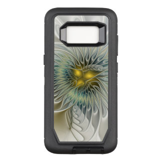 Golden Silver Flower Fantasy abstract Fractal Art OtterBox Defender Samsung Galaxy S8 Case