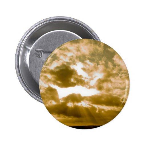 golden sky pinback button