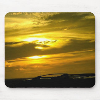 Golden Sky Mouse Pad