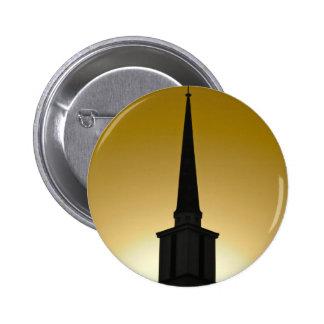 Golden Sky Steeple Pinback Buttons