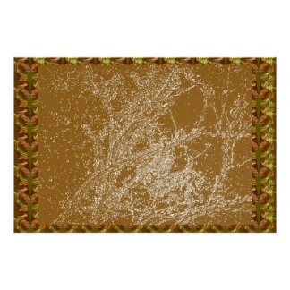 Golden Sky : Tree Branches Transformation Print