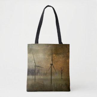 Golden Sky Wind Turbines Tote Bag