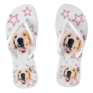 Golden slipper thongs