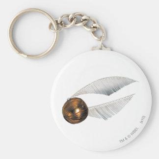 Golden Snitch Basic Round Button Key Ring