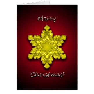 Golden Snowflake 2 - Christmas Greeting Card