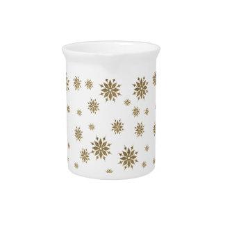 Golden snowflakes pitcher