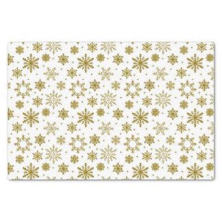 Golden Snowflakes Tissue Paper