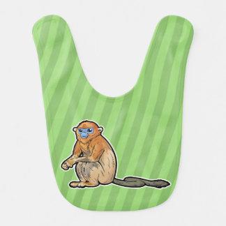 Golden Snub-Nosed Monkey Baby Bibs