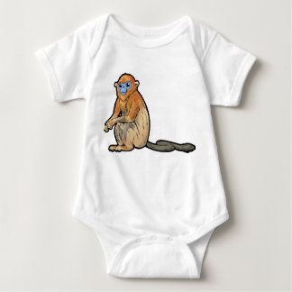 Golden Snub-Nosed Monkey Baby Bodysuit