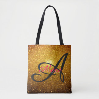 Golden Sparkles Tote Bag