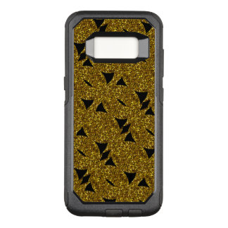 Golden sparkly abstract pattern OtterBox commuter samsung galaxy s8 case