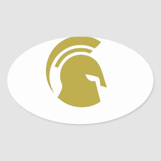 Golden Spartan Rob Donker Personal Training Oval Sticker