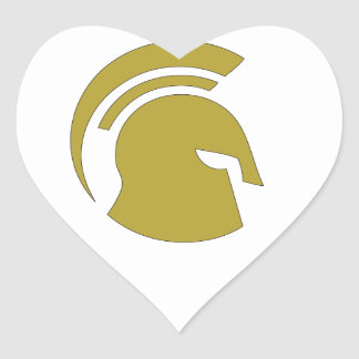 Golden Spartan Rob Donker Personal Training Heart Sticker