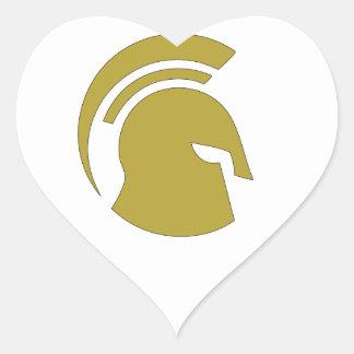 Golden Spartan Rob Donker Personal Training Heart Sticker