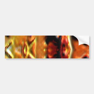Golden Spirit Plate n Flames - Reiki Healing V11 Bumper Sticker