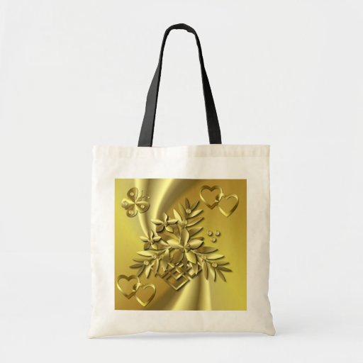 GOLDEN SPRAY ~ Budget Tote Tote Bags