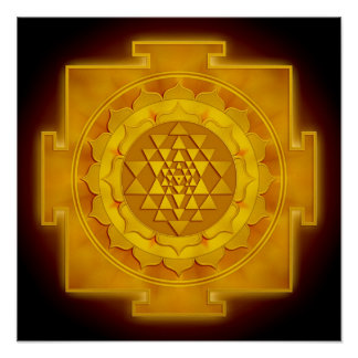 Golden Sri Yantra I Poster