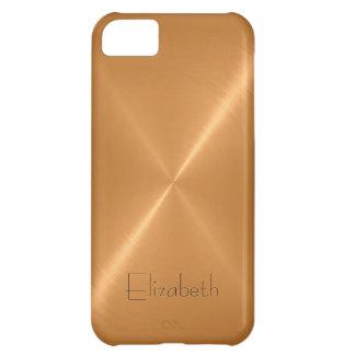 Golden Stainless Steel Metal Look iPhone 5C Case